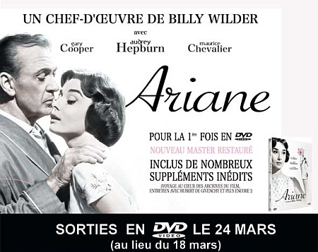Ariane Love in the afternoon Billy Wilder Audrey Hepburn