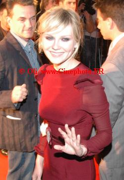 Photo Kirsten Dunst © Spider-man 2 3 Paris 2007